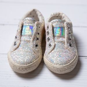Baby Girl White Sequined Shoes